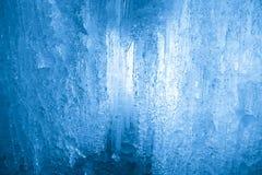 wodospad mrożone Sopel struktura Zamyka w górę widok obrazy royalty free