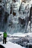 wodospad mrożone fotografia stock