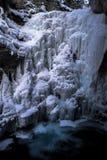 wodospad mrożone Zdjęcia Royalty Free