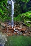 wodospad się kaskadą stawową Zdjęcie Stock