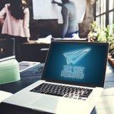 Wodowanie Biznesowej misi rozpoczęcie Zaczyna misi pojęcie Fotografia Stock