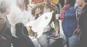 Wodowanie innowaci rozwoju grafiki Kreatywnie pojęcie obraz stock
