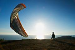 wodowanie paraglider przygotowywa Fotografia Stock