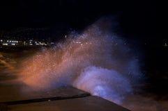 Wody i światła pluśnięcie Fotografia Stock