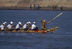 Wody i księżyc festiwal w phnom penh Cambodia Obrazy Royalty Free