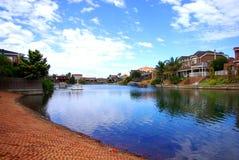 wody jezior szklistych zachód zdjęcia royalty free