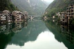 wody miejskiej porcelanowy xijiang Obrazy Royalty Free