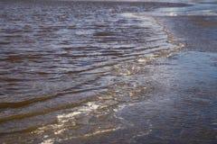 Wody morskiej fala z lodem Zdjęcie Stock