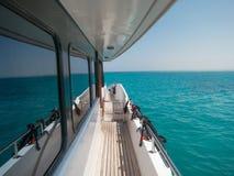 Wody morskiej odbicie na statku okno zdjęcie stock
