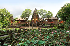 Pura Taman Saraswati Tample w Ubud, Bali, Indonezja obrazy stock