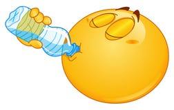 Wody pitnej emoticon royalty ilustracja