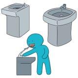 Wody pitnej fontanna ilustracji