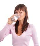 wody pitnej kobieta Obraz Royalty Free