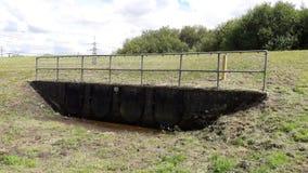 Wody powodziowej ujście Rzecznym Rother Obraz Royalty Free
