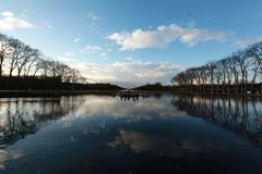 Wody w pałac Versailles, w zimie obrazy royalty free