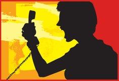 Woede 1 van de telefoon Vector Illustratie