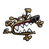 Woedende hond Stock Foto