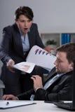 Woedende werkgever Stock Fotografie
