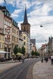 Woedestraat in Erfurt Duitsland Royalty-vrije Stock Afbeeldingen