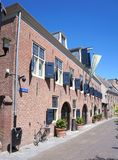 Woerden city center, Utrecht province, the Netherlands. Woerden, the Netherlands. July 2018. Old monumental building in the city center of Woerden, Utrecht stock image