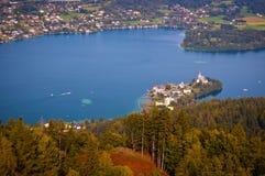 woerthersee λιμνών της Αυστρίας στοκ εικόνες