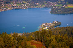 Woerthersee Lake in Austria Stock Photo