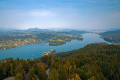 Woerthersee Lake in Austria. Woerthersee Lake in Carinthia, Austria Royalty Free Stock Photos