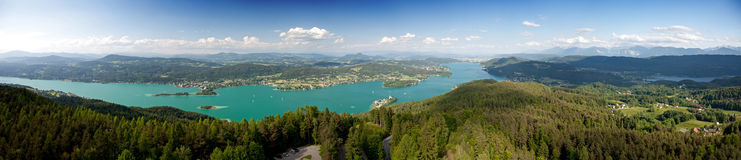 Woerthersee Lake in Austria Royalty Free Stock Images