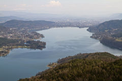 Woerthersee lake east part Stock Images
