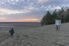 Woestijn BÅ 'Ä™dowska in zuidelijk Polen stock foto