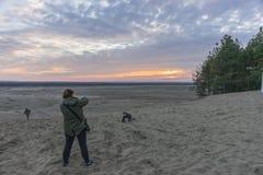 Woestijn BÅ 'Ä™dowska in zuidelijk Polen stock foto's