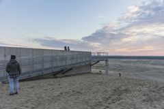 Woestijn BÅ 'Ä™dowska in zuidelijk Polen royalty-vrije stock foto