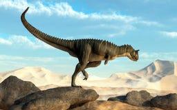 Woestijn Carnotaurus vector illustratie