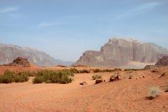 Woestijn in de Rum van de Wadi Stock Foto