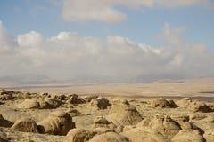 Woestijn en bergen van Jordanië Royalty-vrije Stock Afbeeldingen