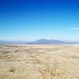 Woestijn en bergketen royalty-vrije stock foto