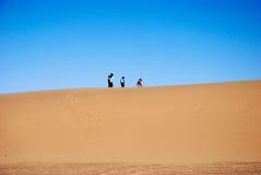 Woestijn en hemel Royalty-vrije Stock Afbeelding