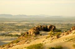 Woestijn en rots royalty-vrije stock foto