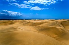 Woestijn in Gran Canaria Stock Afbeelding