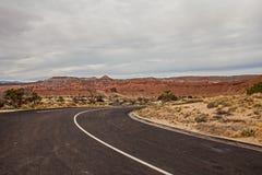 Woestijn Hiway Stock Afbeeldingen