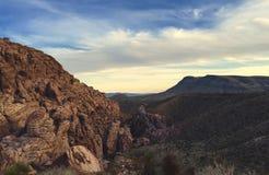 Woestijn, Las Vegas, Rode Rots Stock Fotografie