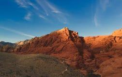 Woestijn, Las Vegas, Rode Rots Stock Foto