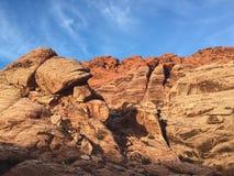 Woestijn, Las Vegas, Rode Rots Stock Foto's