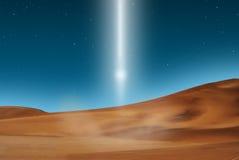 Woestijn lightbeam Royalty-vrije Stock Afbeeldingen