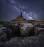 Woestijn melkachtige manier Stock Foto's
