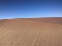 Woestijn met Blauwe Hemel Stock Fotografie