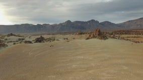 Woestijn op Mars Duinen stock footage