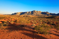 Woestijn over zonsondergang, Nevada Royalty-vrije Stock Foto