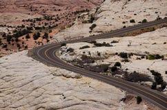 Woestijn Road Stock Afbeeldingen
