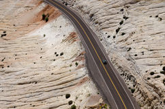 Woestijn Road Stock Foto's